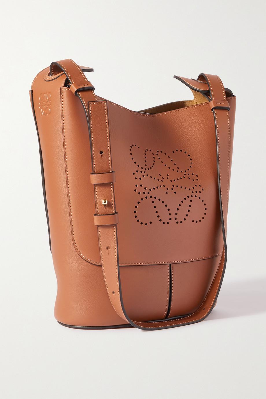Loewe Sac porté épaule en cuir à perforations Hobo Small