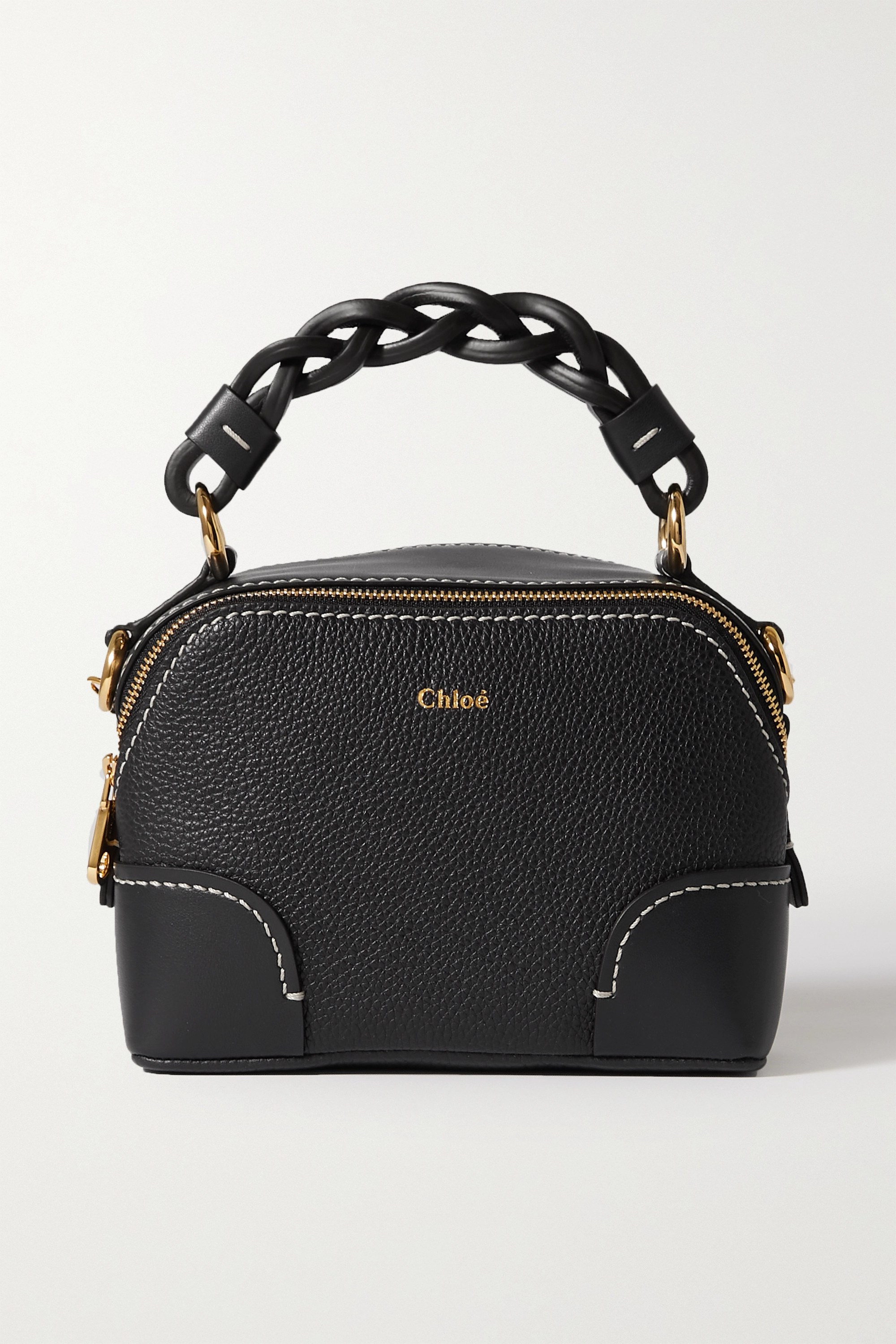 Chloé - Daria mini textured and smooth leather tote