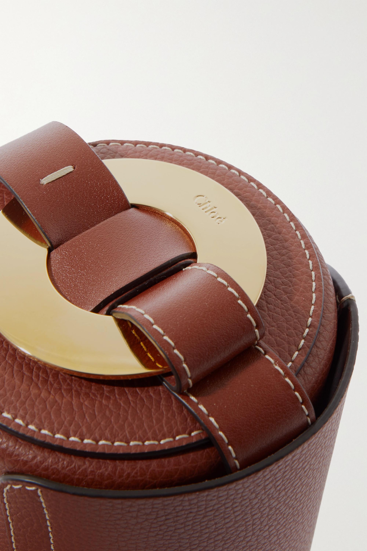 Chloé Darryl mini textured-leather shoulder bag