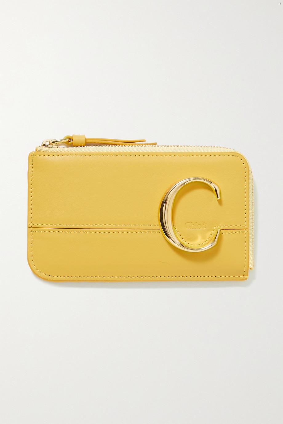 Chloé C leather cardholder