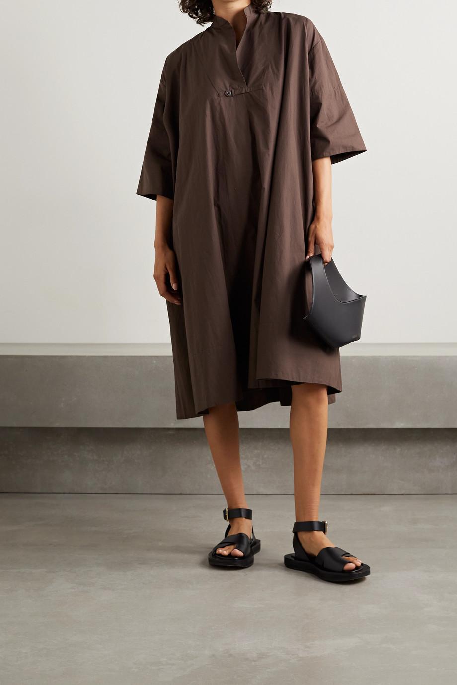 Deveaux Evelyn oversized cotton-poplin dress