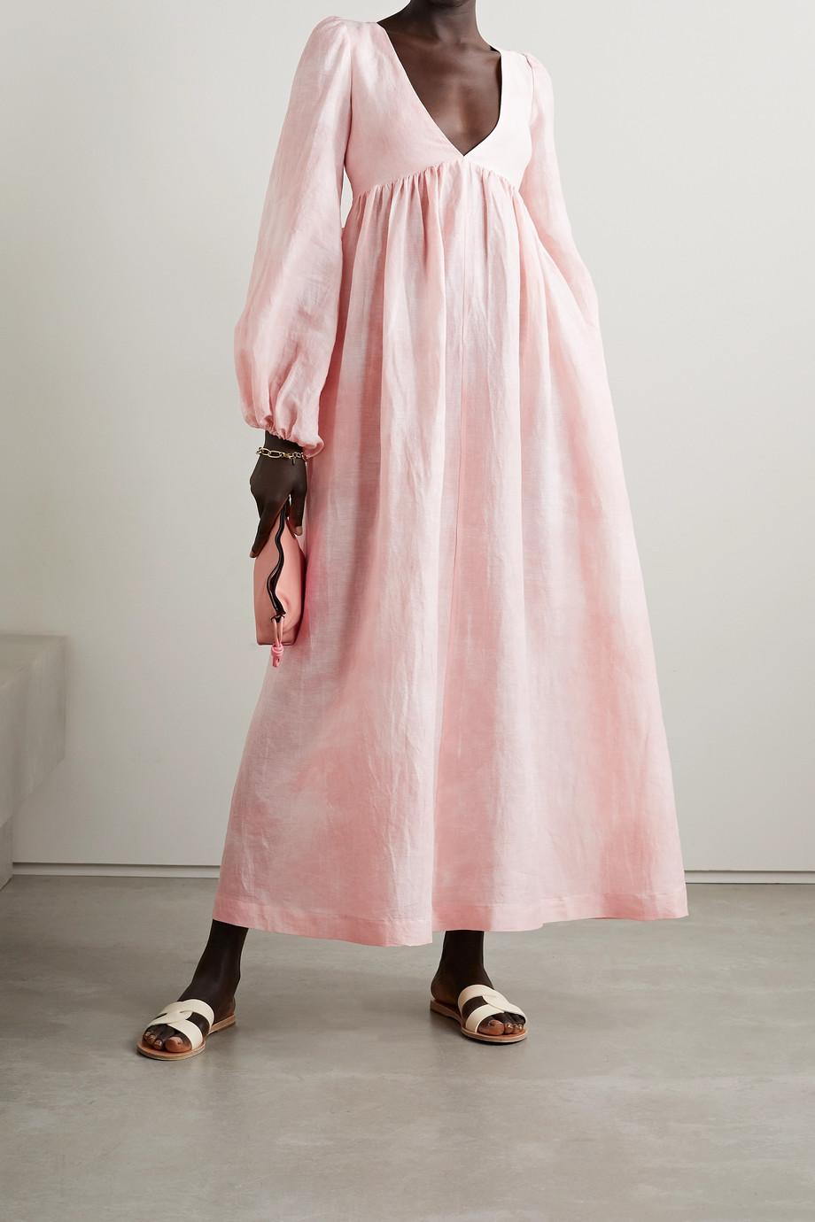 Lisa Marie Fernandez Robe longue en gaze de lin et coton mélangés Carolyn - NET SUSTAIN