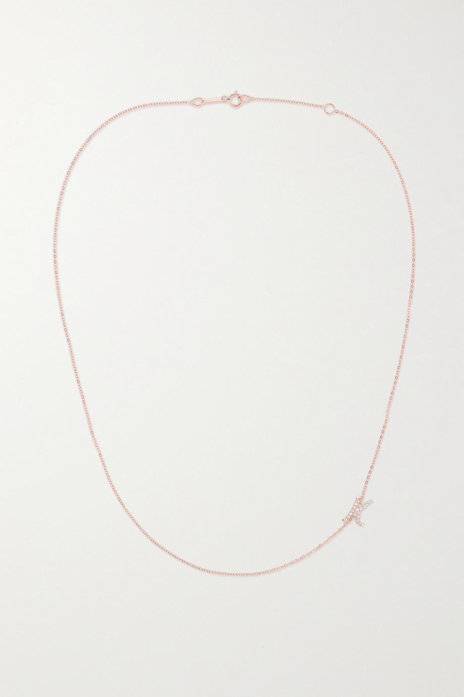 Anita Ko Collier en or rose 18 carats (750/1000) et diamants Initial