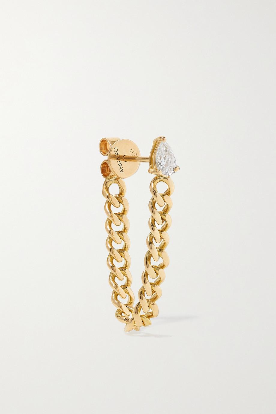 Anita Ko Boucle d'oreille unique en or 18 carats (750/1000) et diamant