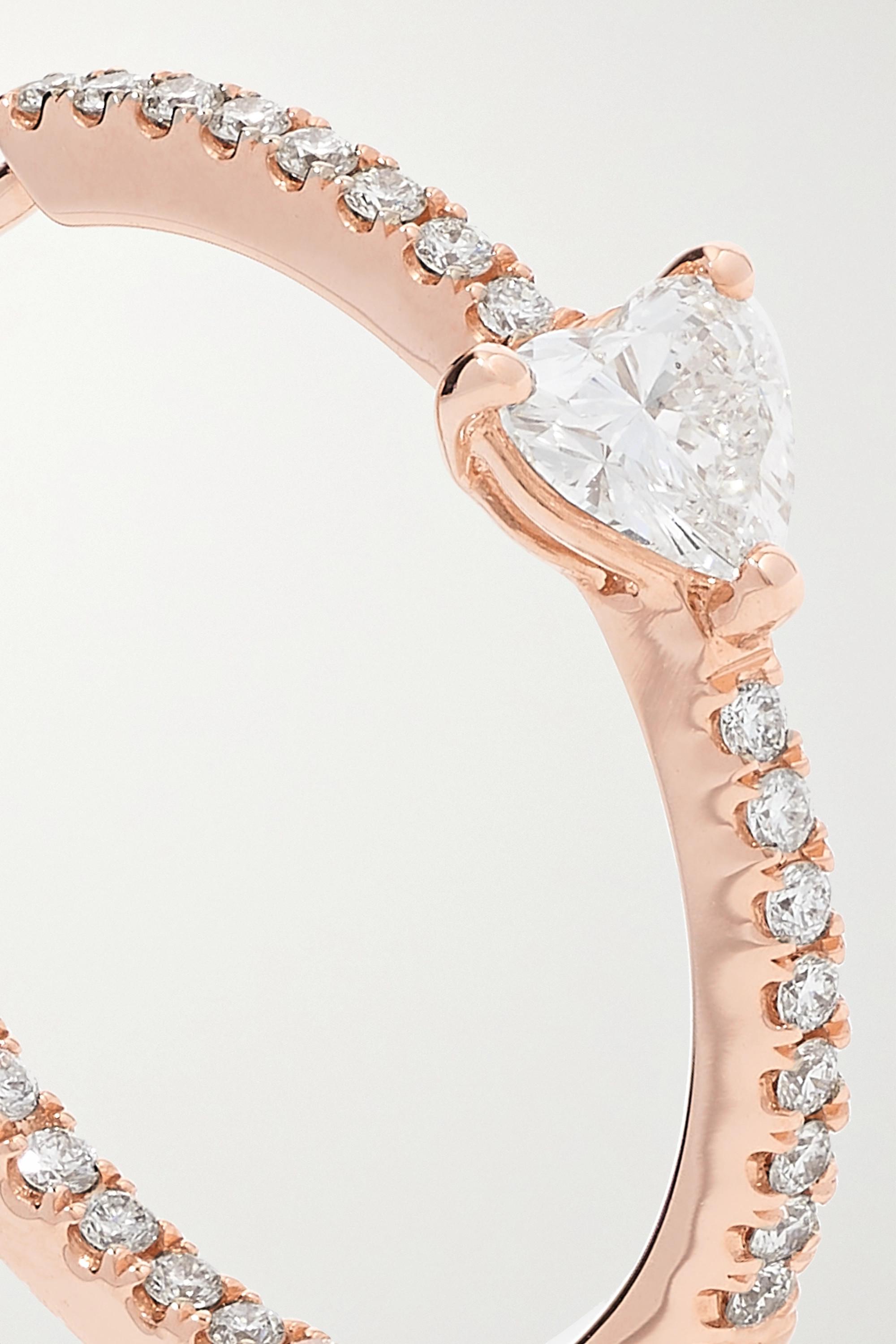 Anita Ko Boucles d'oreilles en or rose 18 carats (750/1000) et diamants