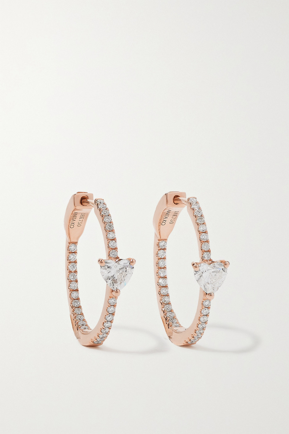 Anita Ko Boucles d'oreilles en or rose 18 carats et diamants