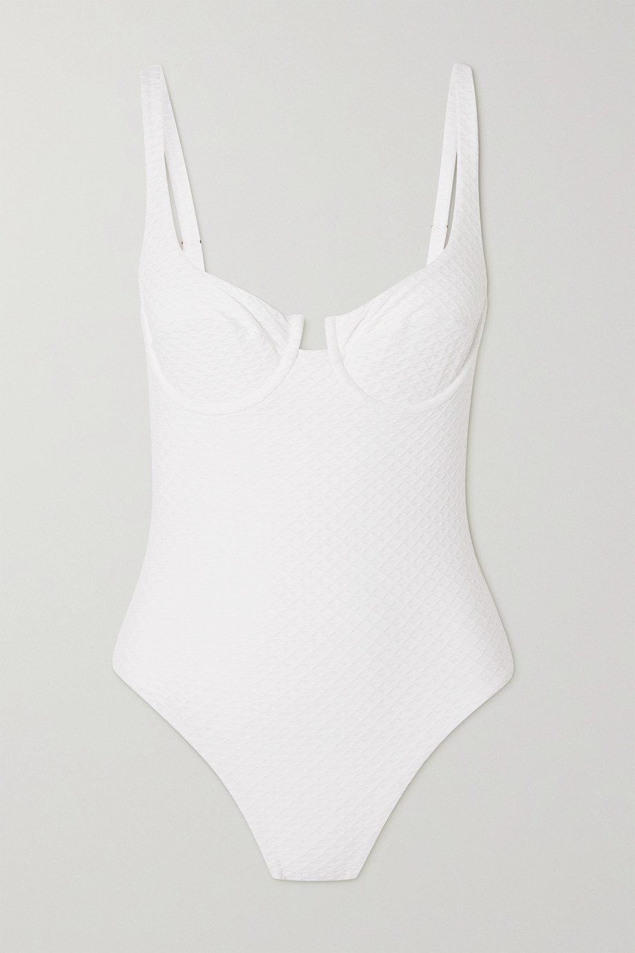 Melissa Odabash Sanremo Badeanzug aus strukturiertem Stretch-Material mit Bügeln und Cut-out