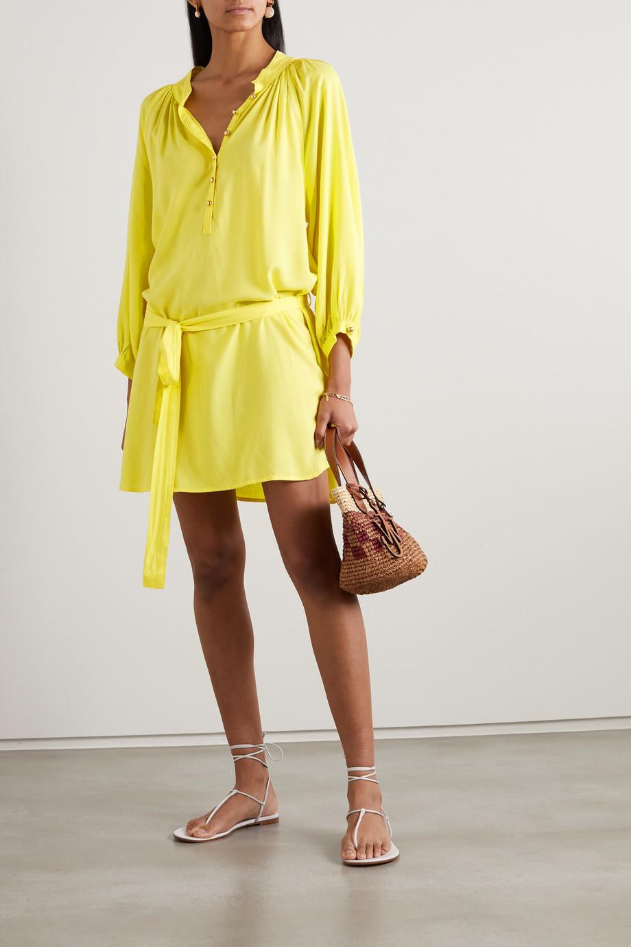 Melissa Odabash Amy belted voile mini dress
