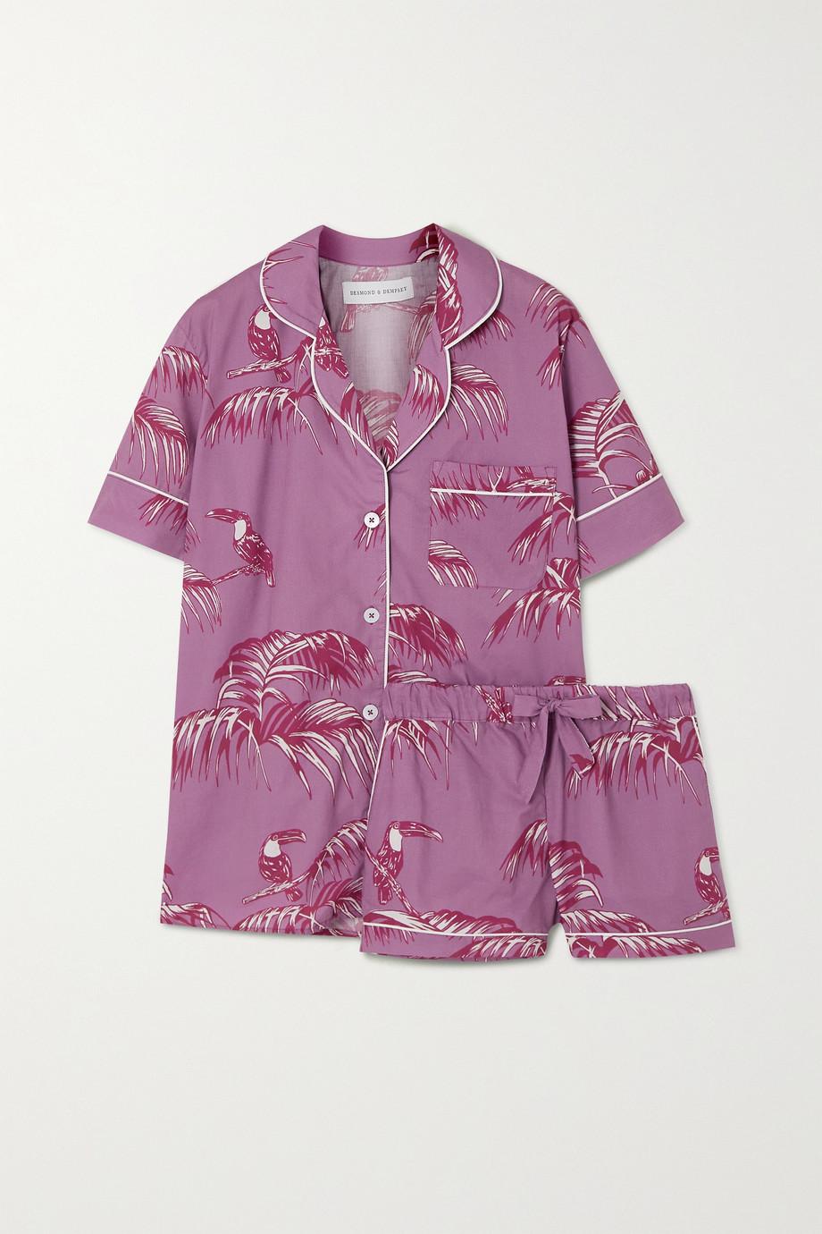 Desmond & Dempsey Bocas Pyjama aus bedrucktem Baumwoll-Voile