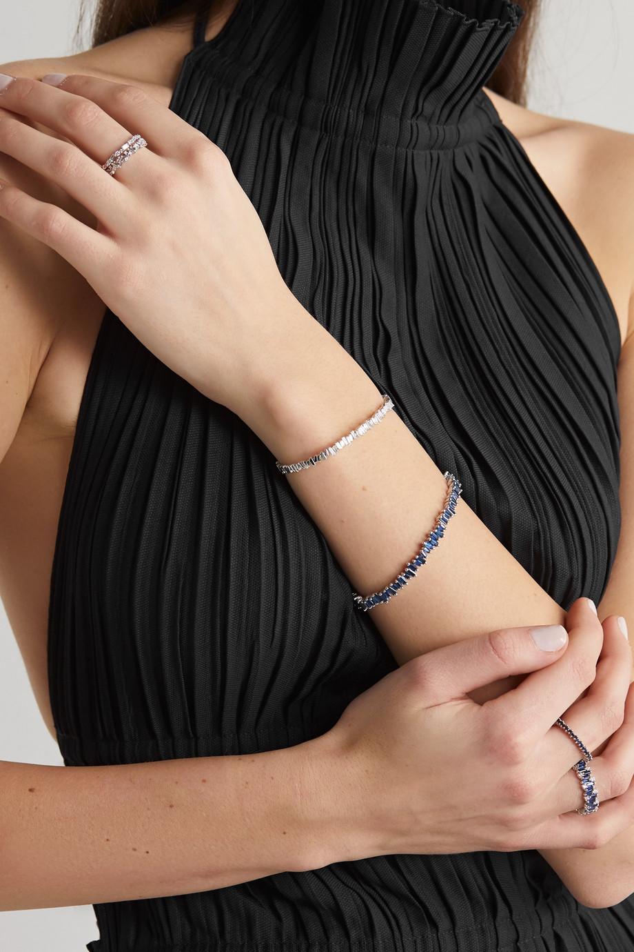 Suzanne Kalan 18-karat white gold sapphire bracelet