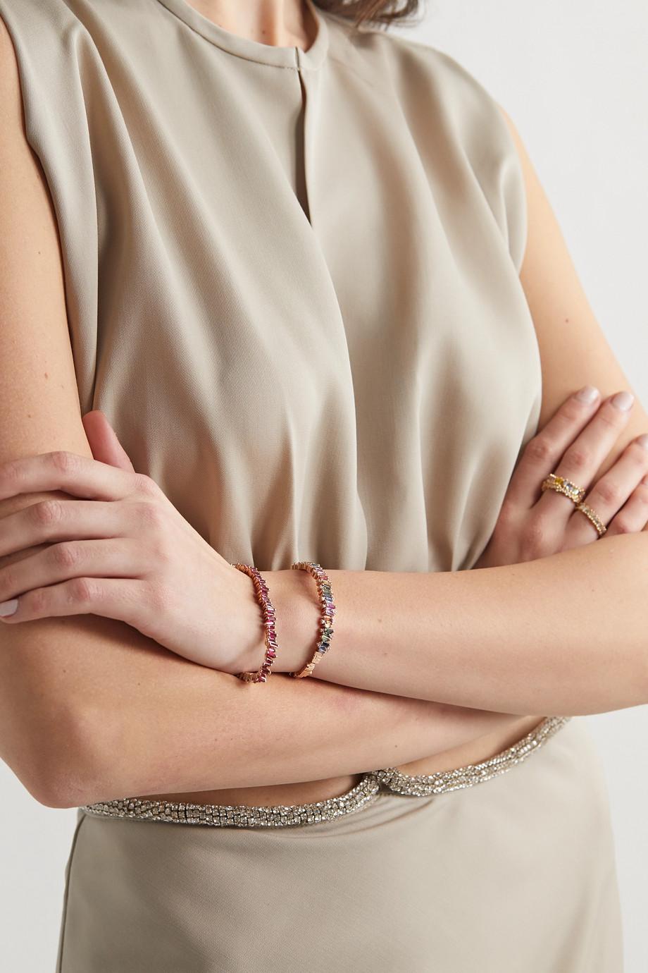 Suzanne Kalan 18-karat rose gold ruby bracelet