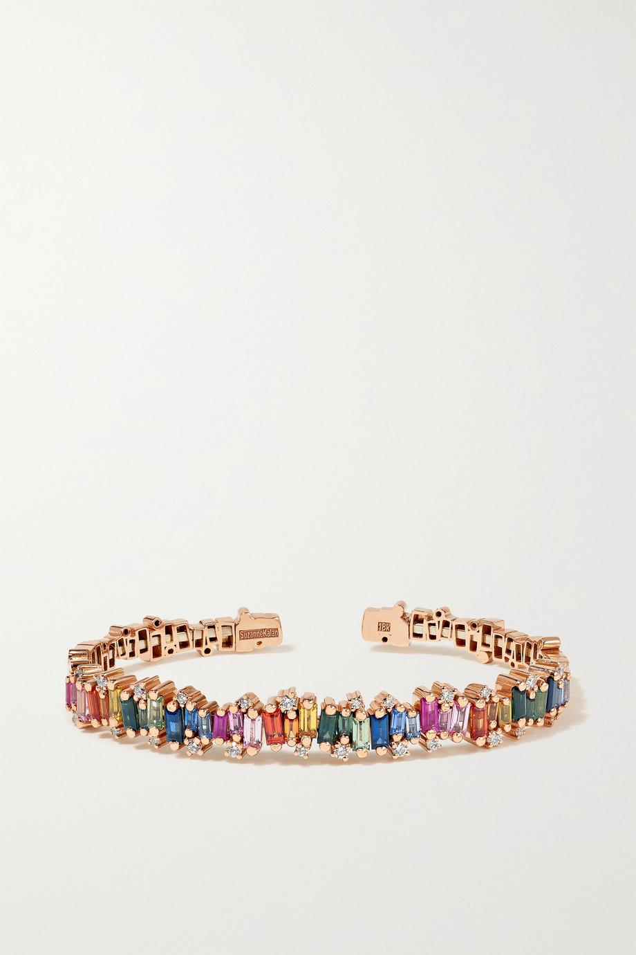Suzanne Kalan Bracelet en or rose 18 carats (750/1000), saphirs et diamants