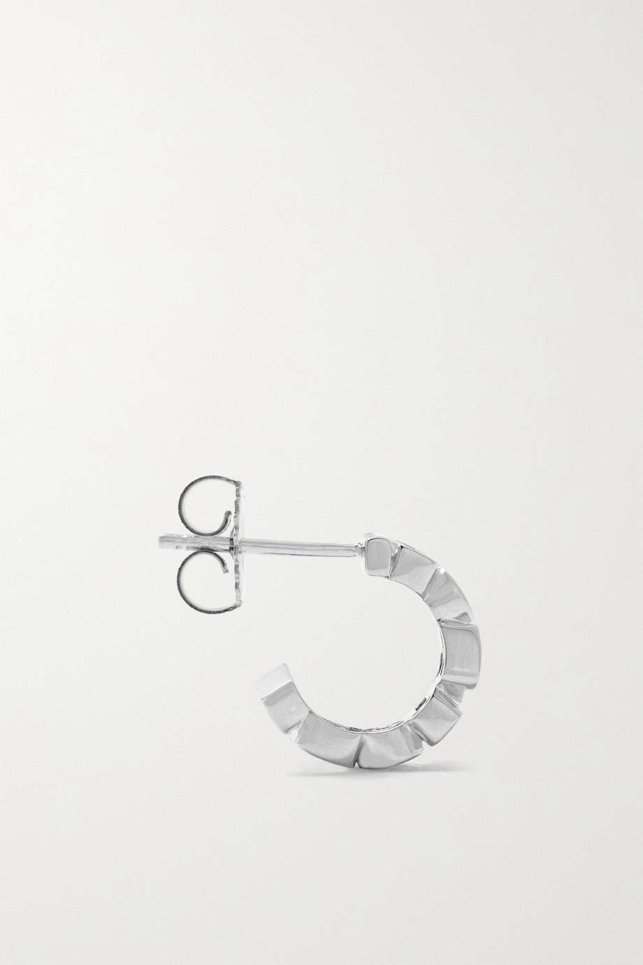 Suzanne Kalan 18-karat white gold, sapphire and diamond hoop earrings