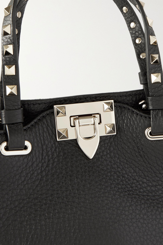 Valentino Sac à main en cuir texturé Rockstud Mini Valentino Garavani
