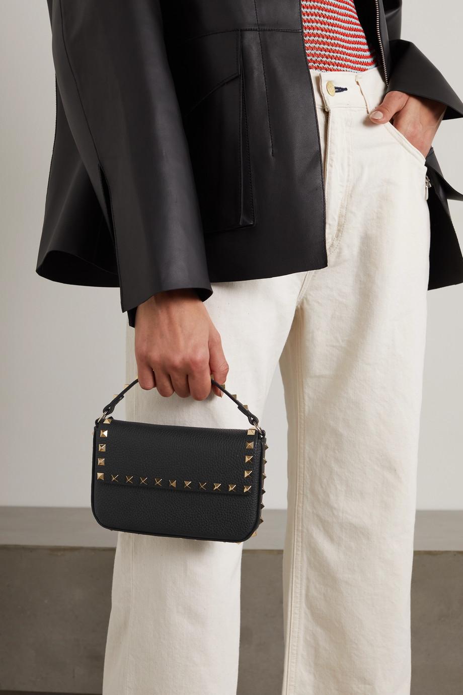 Valentino Sac à main en cuir texturé Rockstud Valentino Garavani