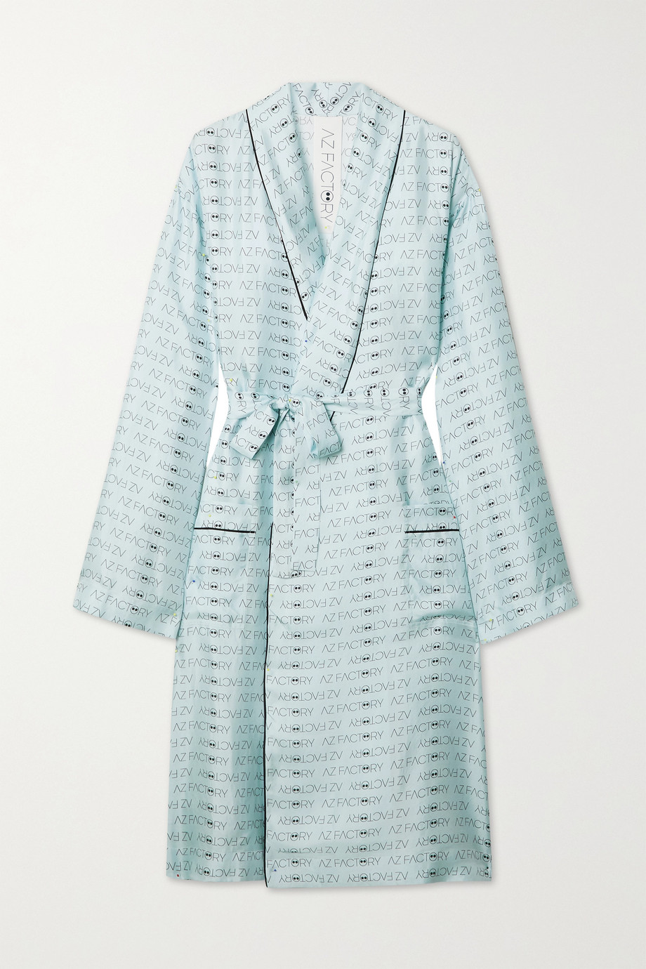 AZ Factory Pijama Look But Don't Touch silk-twill robe