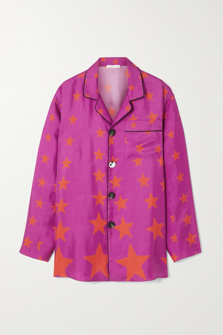 AZ Factory Pijama You're A Star silk-twill shirt