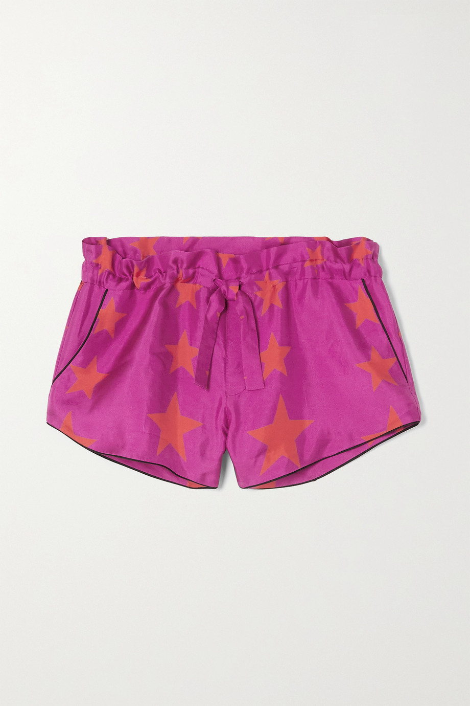 AZ Factory Pijama You're A Star printed silk-twill shorts