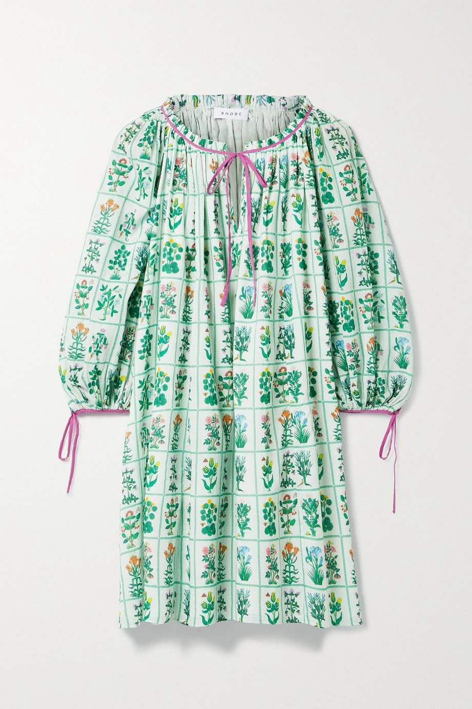 Rhode Sadie floral-print cotton-voile dress