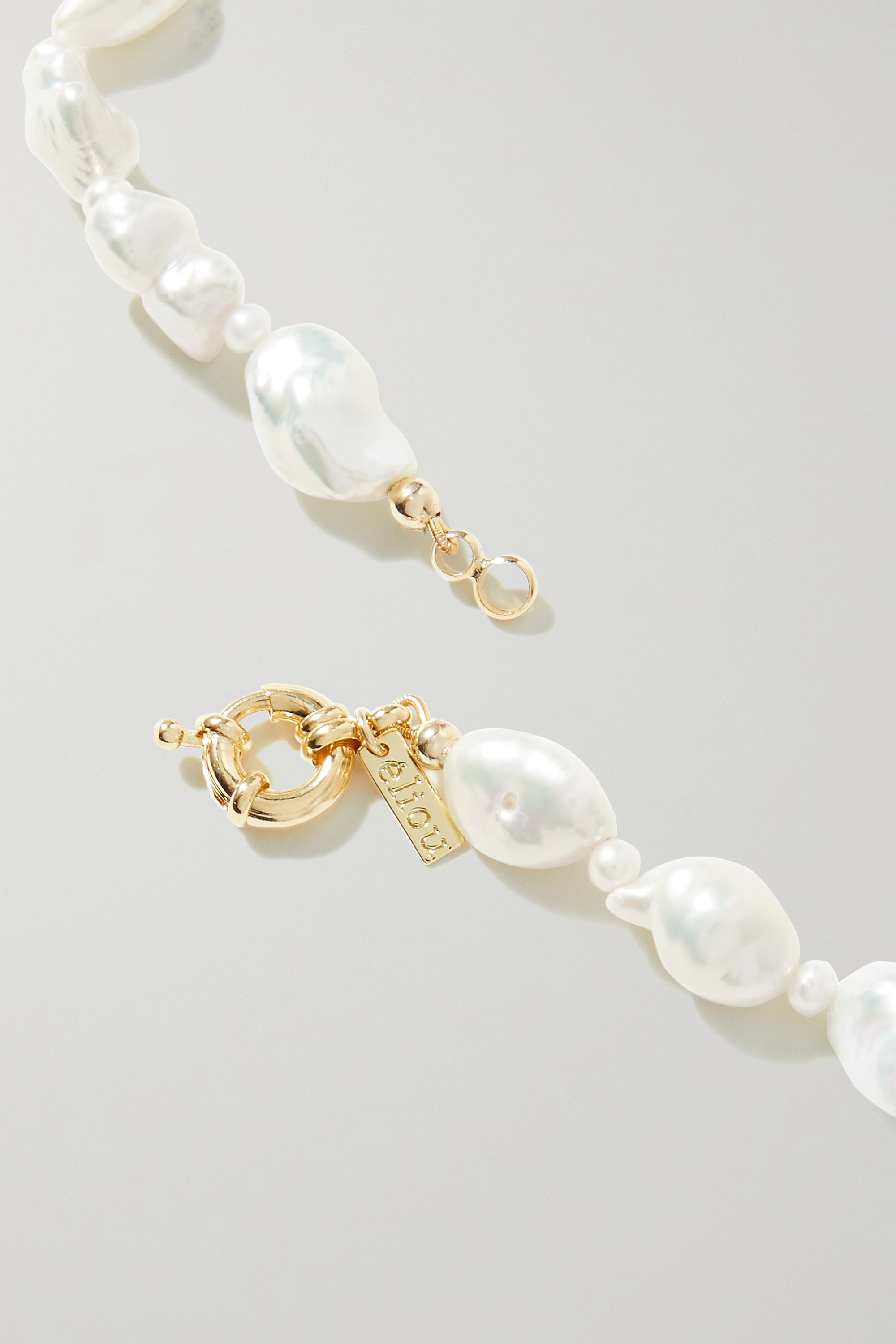 éliou All The Feels gold-plated, pearl and bead necklace
