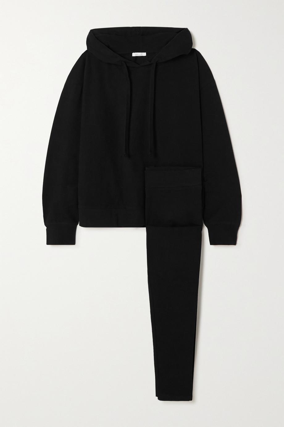 Skin Set aus Hoodie und Leggings aus Baumwoll-Jersey mit Stretch-Anteil