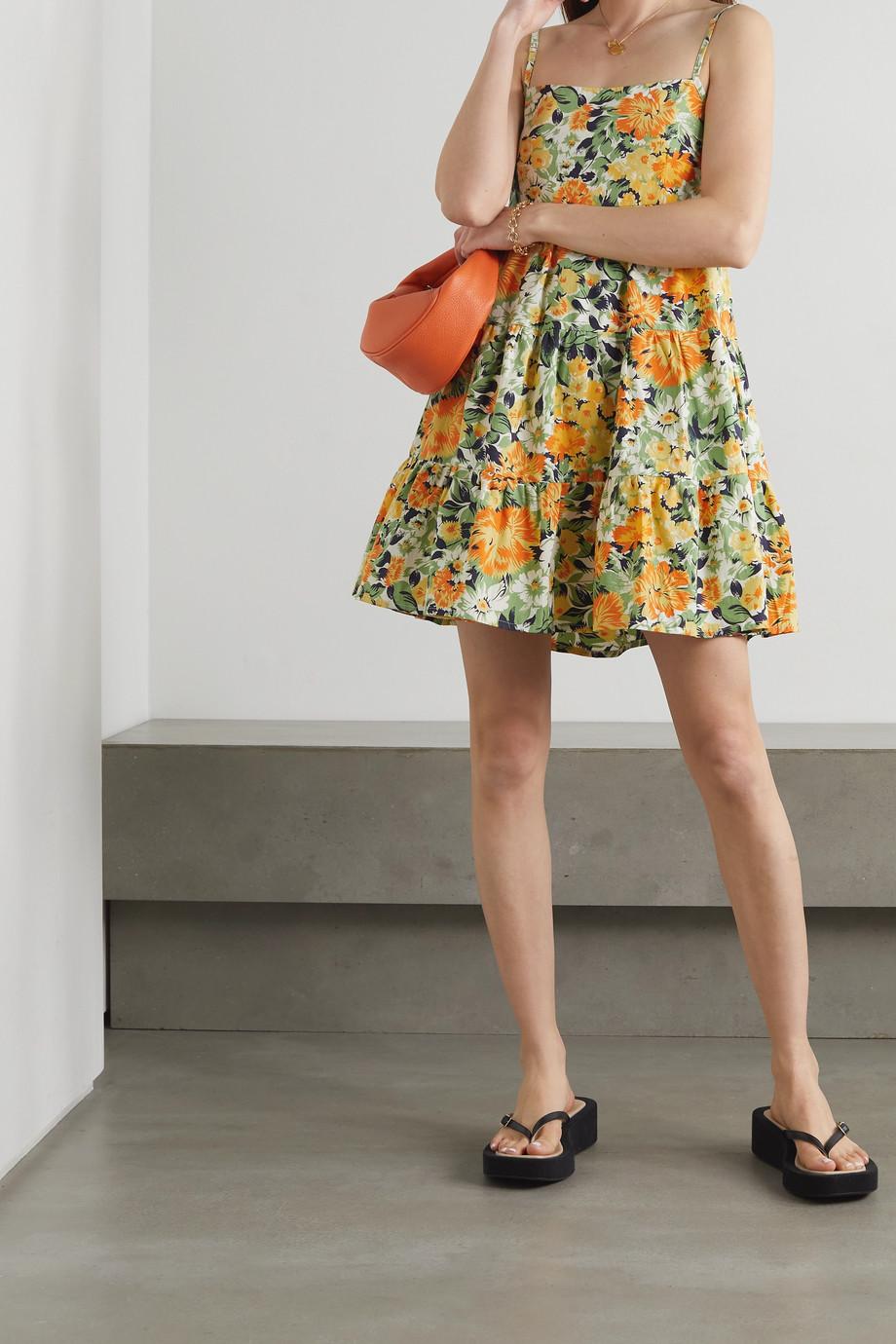Faithfull The Brand + NET SUSTAIN Octavia floral-print cotton-poplin mini dress