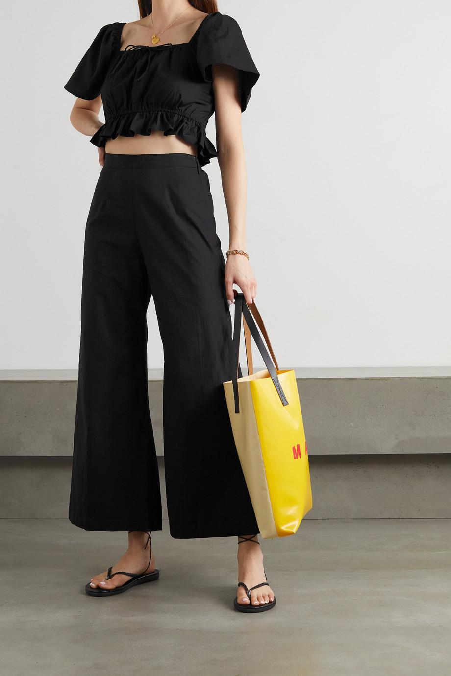 Faithfull The Brand + NET SUSTAIN Lario cotton-poplin wide-leg pants