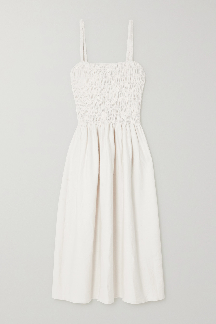 Faithfull The Brand + NET SUSTAIN Camden smocked cotton-terry midi dress