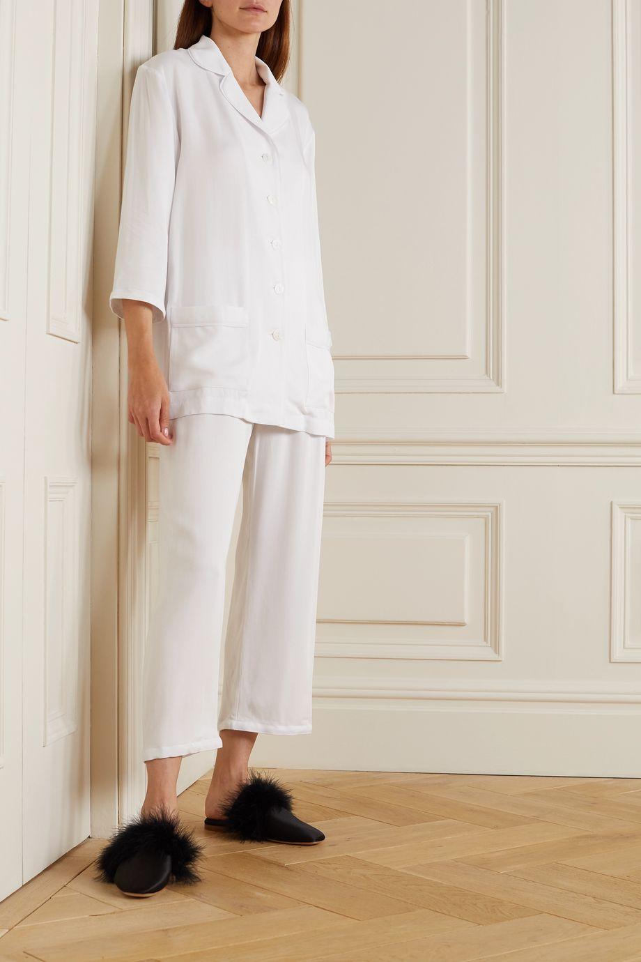 Sleeper Pyjama aus Twill mit Federn