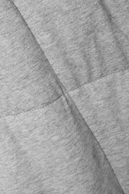 Skin Sierra Morgenmantel aus gestepptem meliertem Baumwoll-Jersey