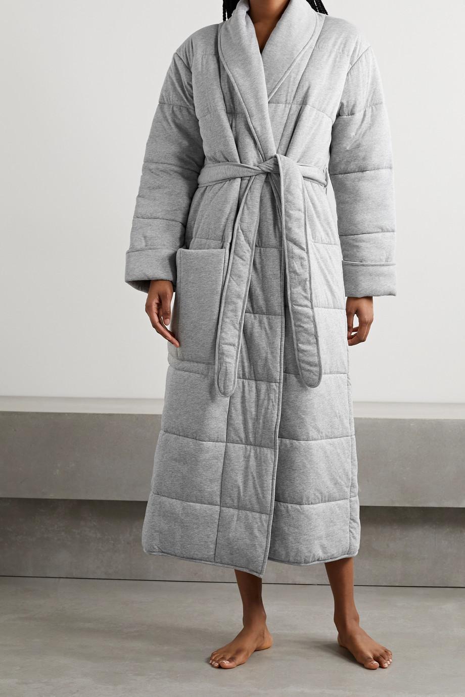 Skin Peignoir en jersey de coton chiné matelassé Sierra