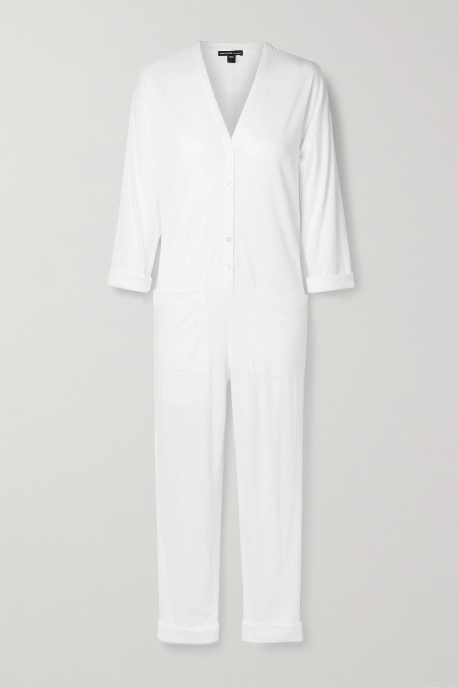 James Perse Lotus cotton-jersey jumpsuit