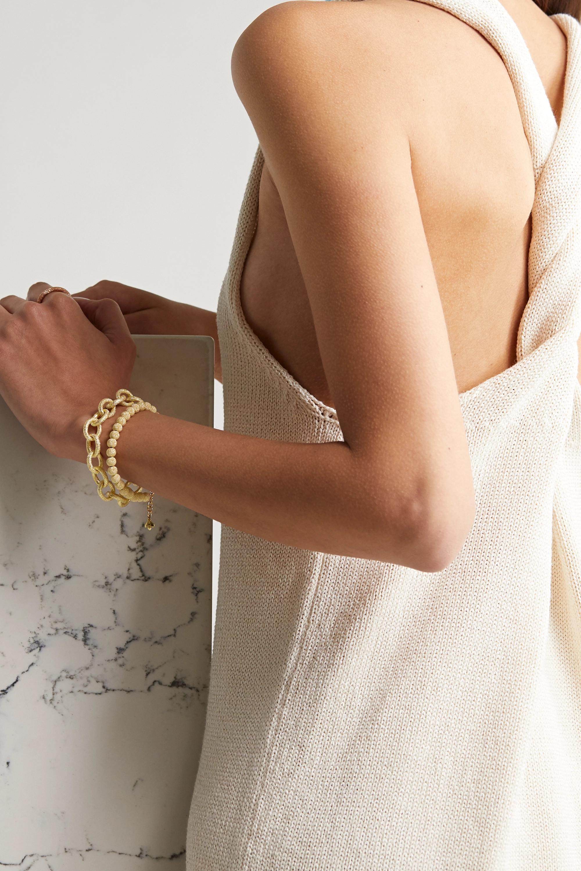 Carolina Bucci Florentine Armband aus 18 Karat Gold