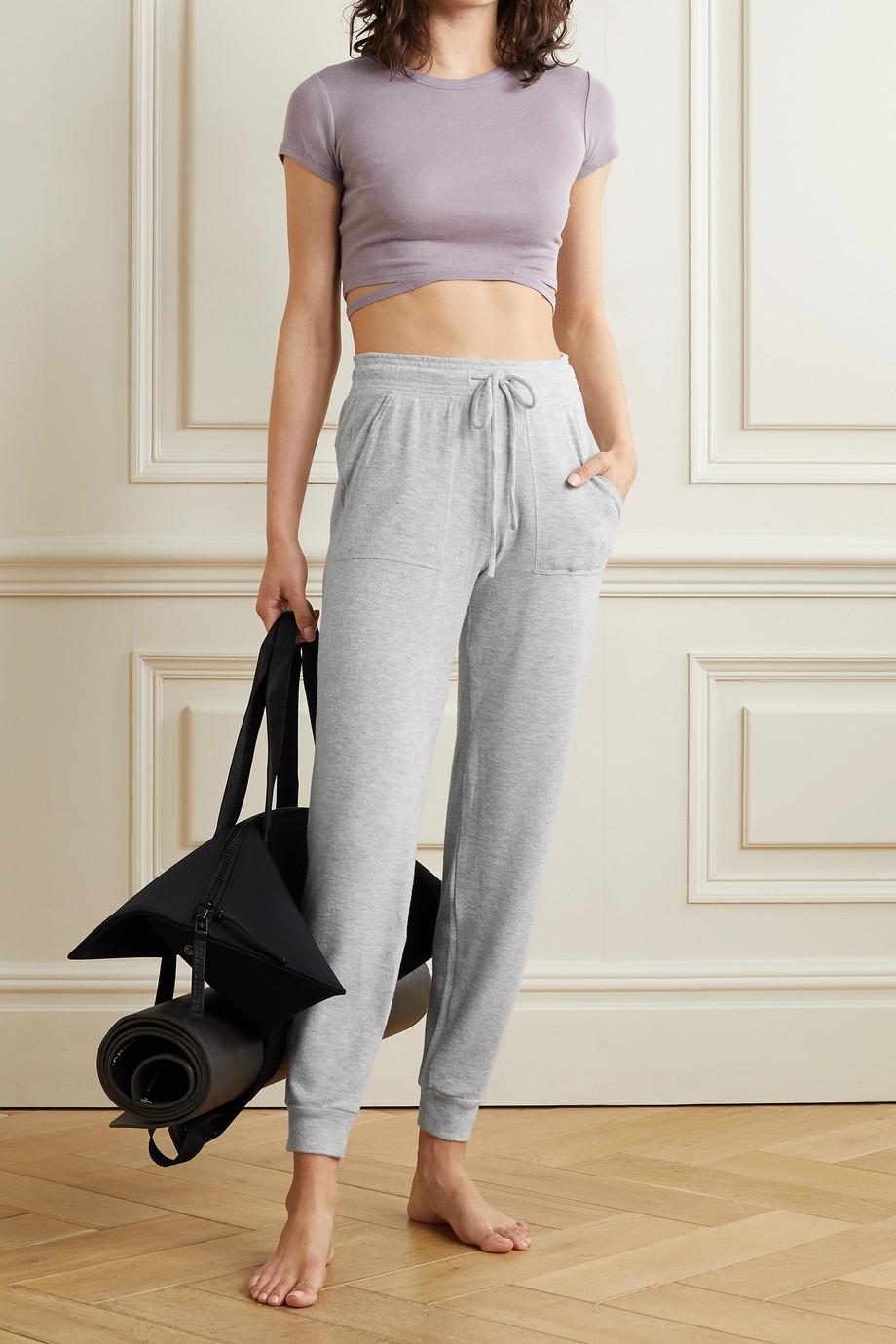 Alo Yoga Soho brushed stretch-jersey track pants