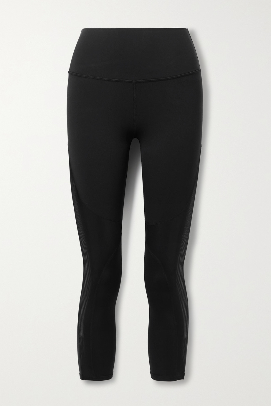 Alo Yoga Coast cropped mesh-trimmed stretch leggings
