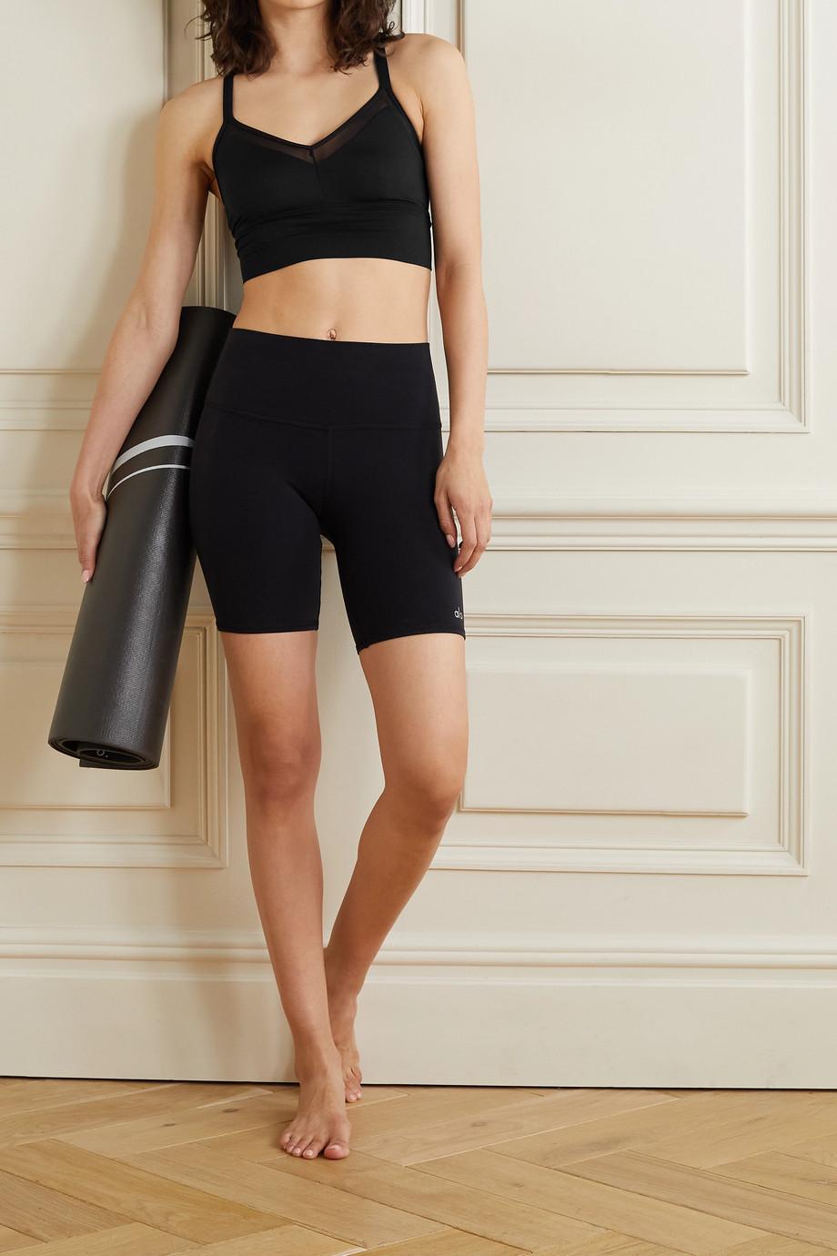 Alo Yoga Sneak mesh-trimmed stretch sports bra