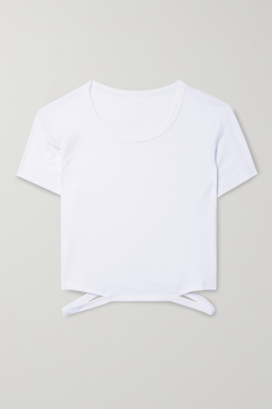 Alo Yoga Halo cropped cutout jersey top