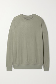 Alo Yoga Soho brushed stretch-jersey sweatshirt
