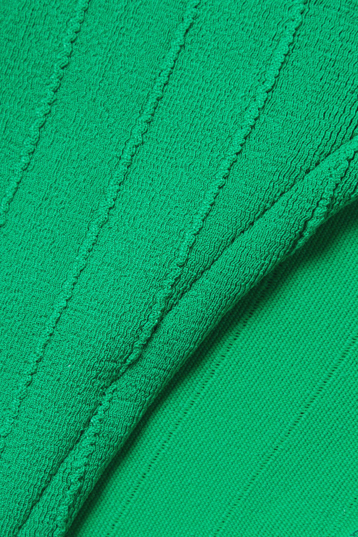 Hunza G + NET SUSTAIN Audrey Nile ribbed bandeau swimsuit