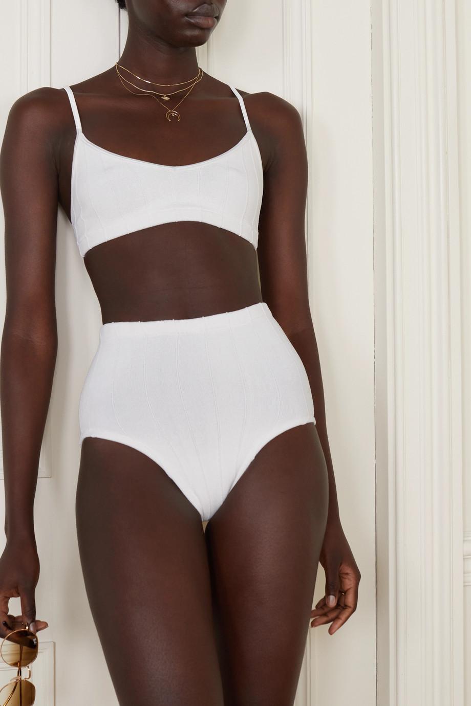 Hunza G + NET SUSTAIN Duo Betty Nile gerippter Bikini