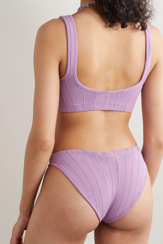 Hunza G + NET SUSTAIN Helena Nile gerippter Bikini