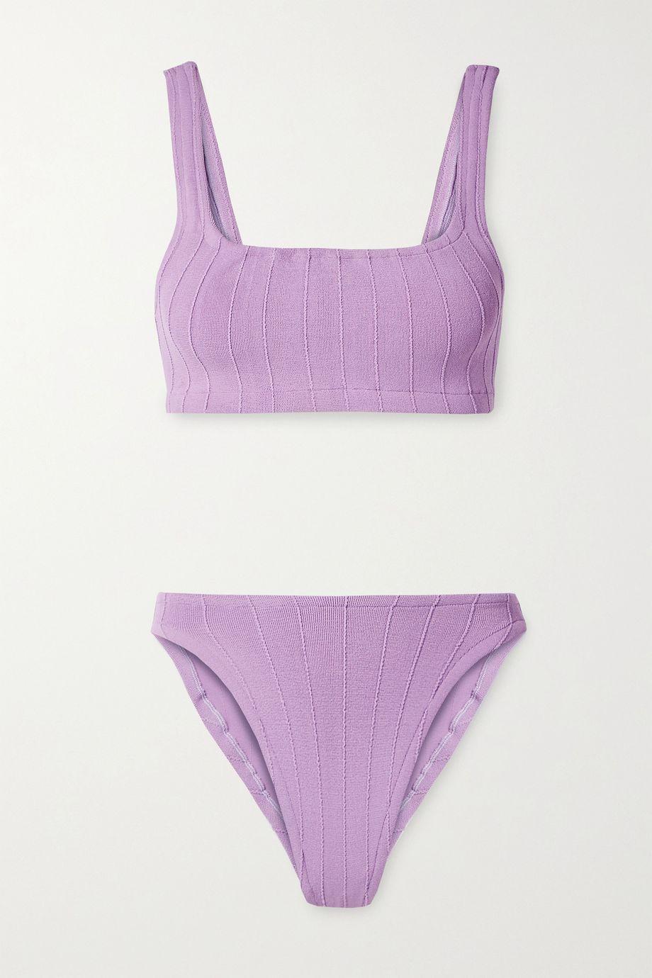 Hunza G + NET SUSTAIN Helena Nile ribbed bikini
