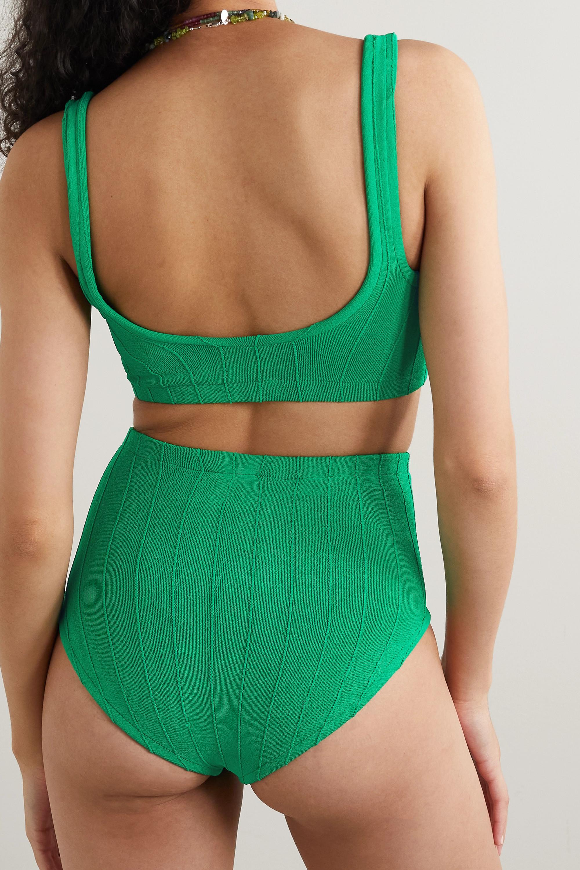 Hunza G + NET SUSTAIN Patricia Nile ribbed bikini