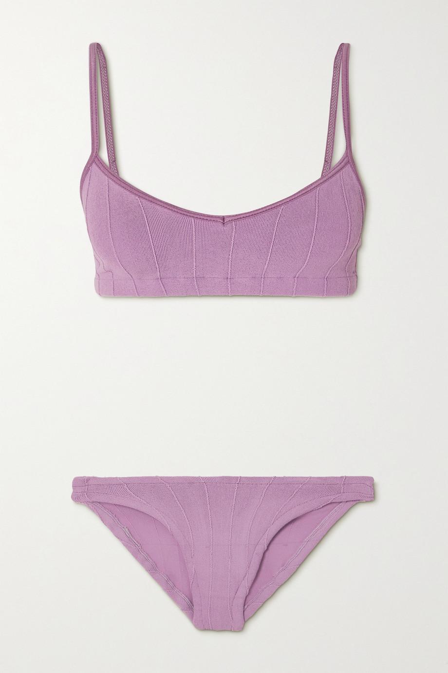 Hunza G + NET SUSTAIN Virginia Nile gerippter Bikini