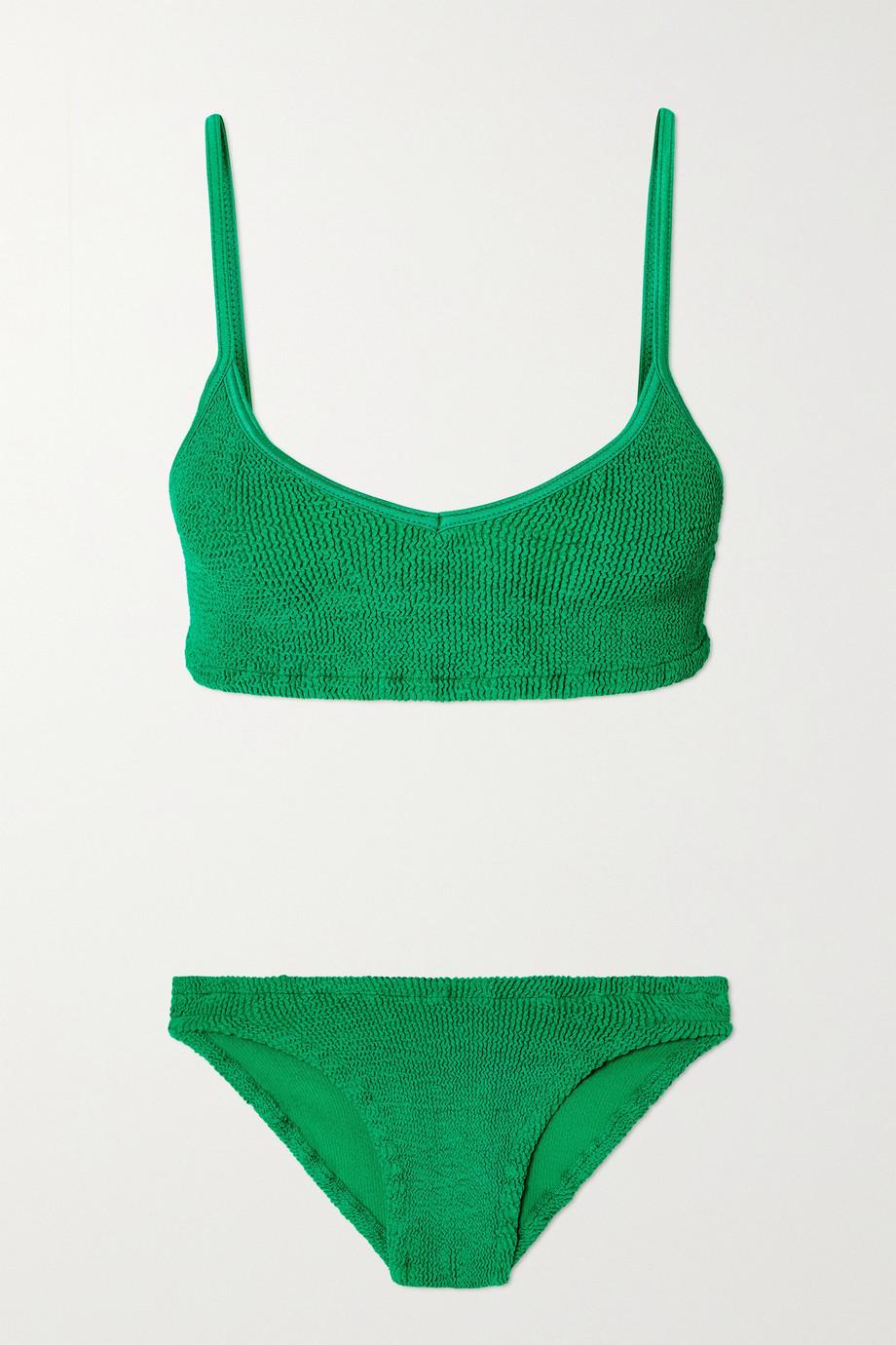 Hunza G + NET SUSTAIN Virginia seersucker bikini