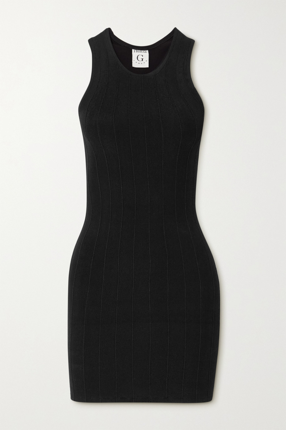 Hunza G + NET SUSTAIN Iris Nile ribbed-knit mini dress