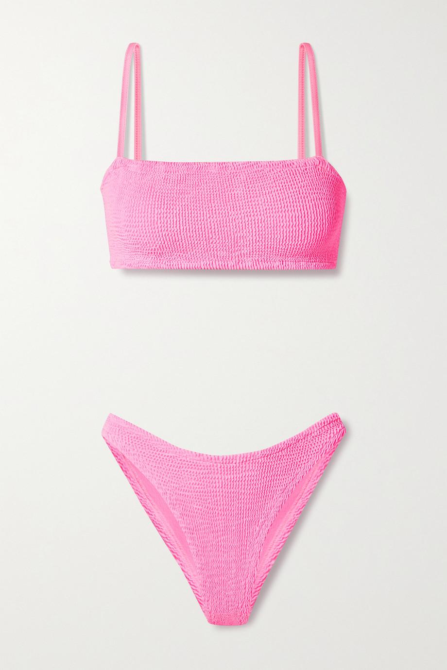 Hunza G + NET SUSTAIN Gigi seersucker bikini