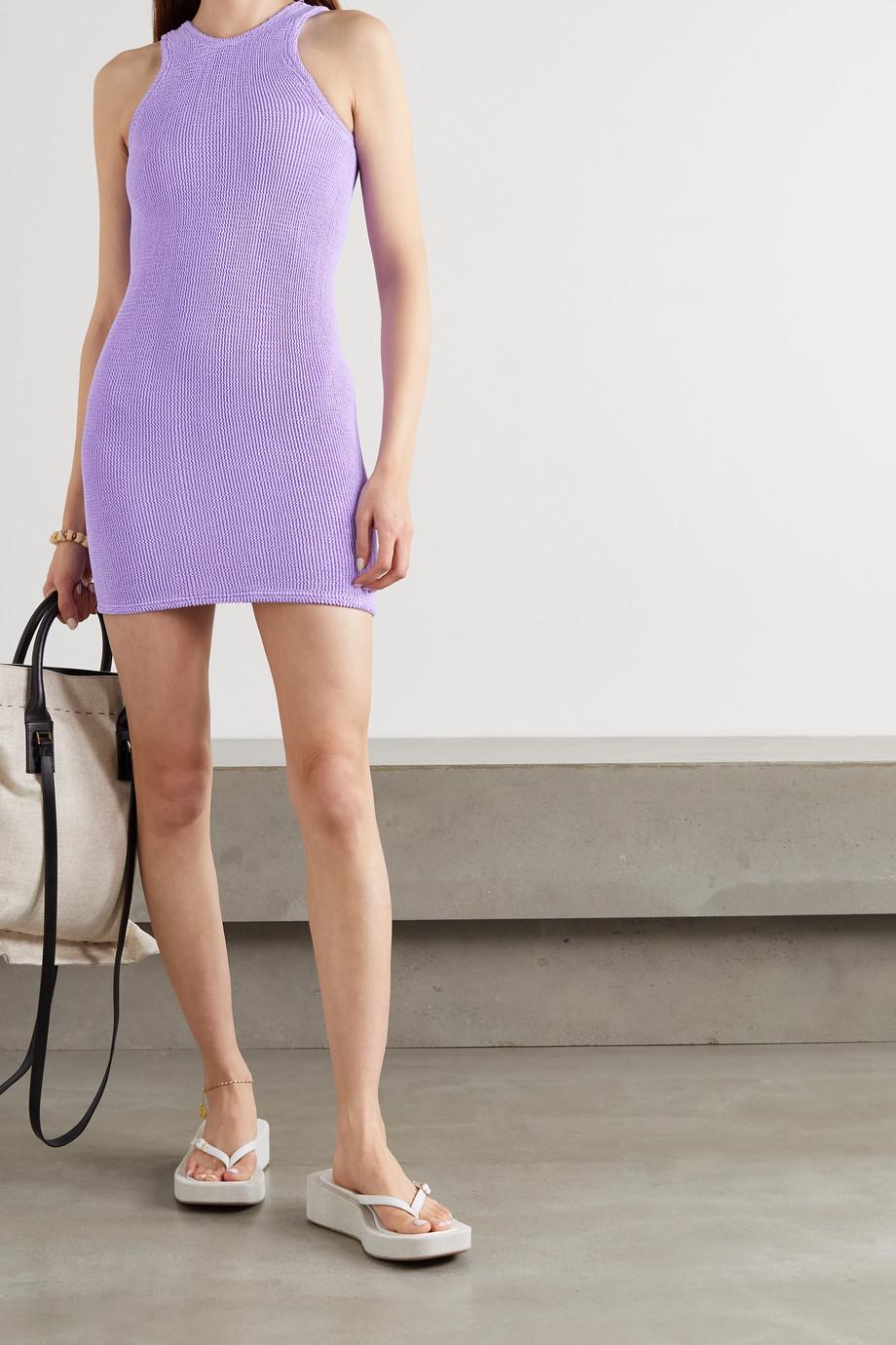 Hunza G + NET SUSTAIN Iris Minikleid aus Seersucker