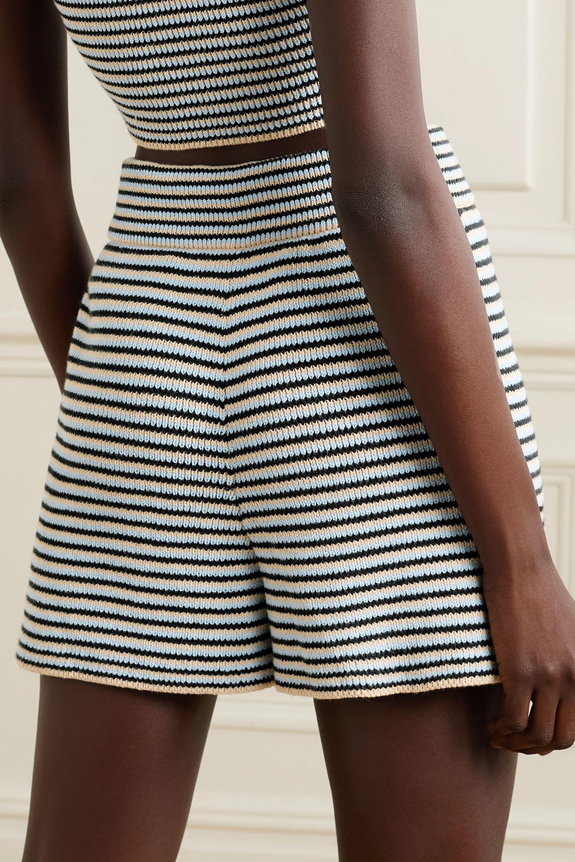 A.L.C. Billie striped cotton-blend shorts