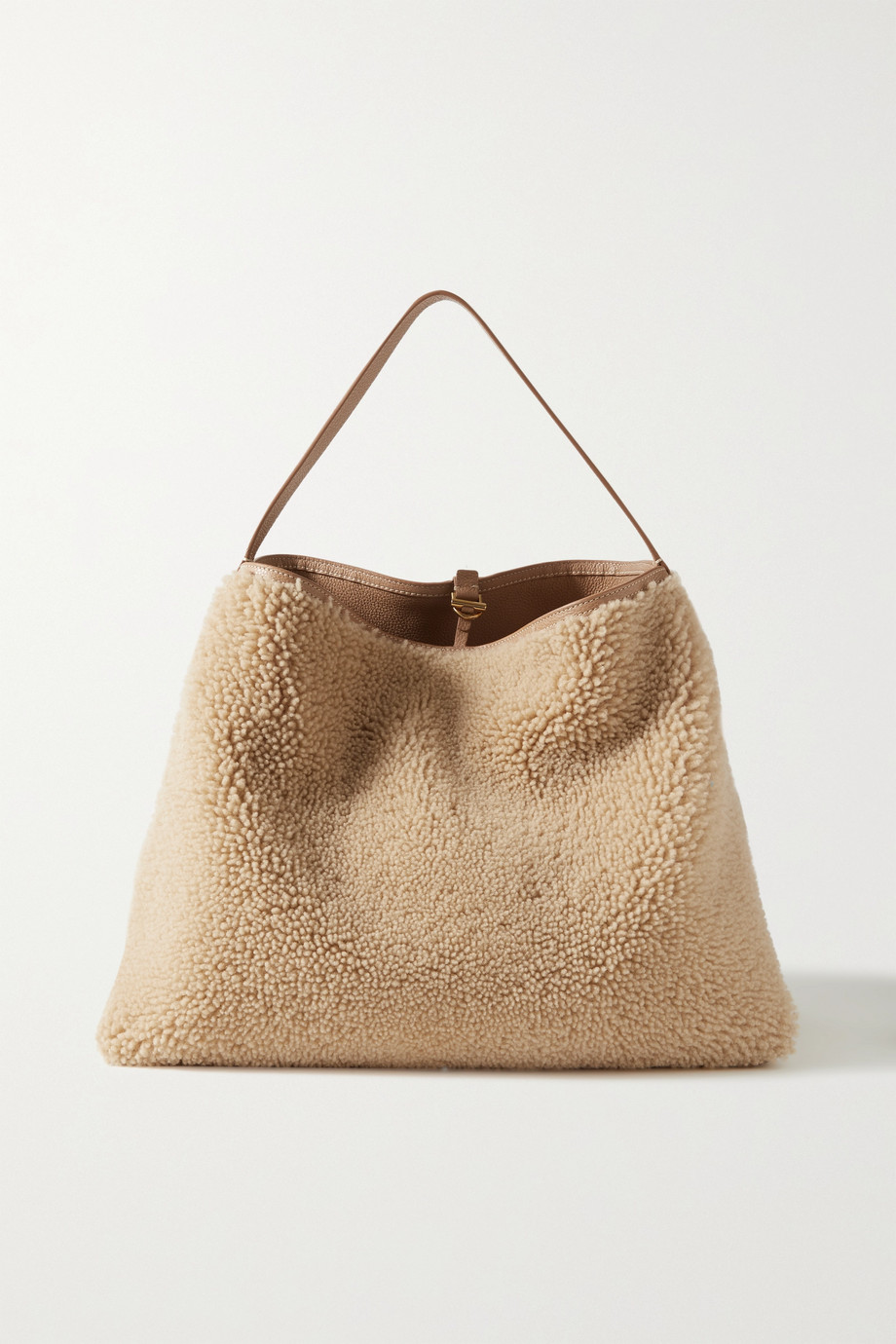 Altuzarra Duo reversible shearling and textured-leather shoulder bag
